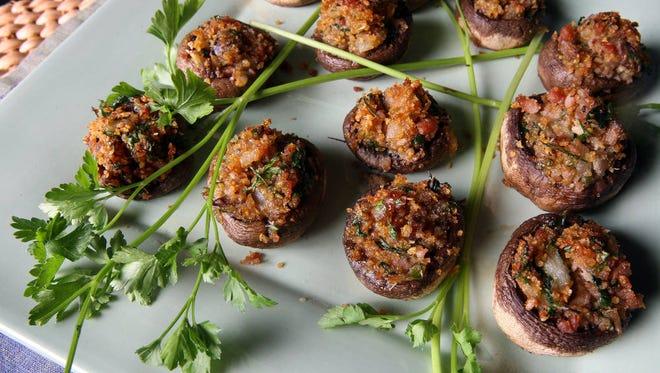 Country ham-stuffed mushrooms
