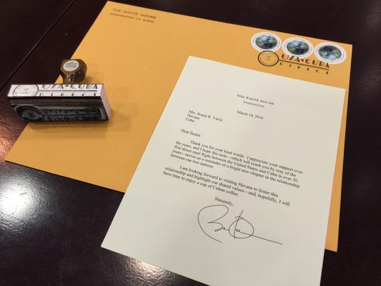 A letter from President Obama to a 76-year-old Cuban