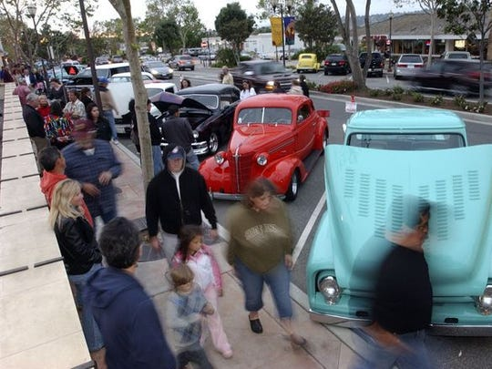 The first of six cruise nights was held Friday along Ventura Boulevard in Old Town Camarillo. The Old Town Merchants Association is sponsoring the event, along with the Channel Islands Chapter of the Pontiac-Oakland Club International.
