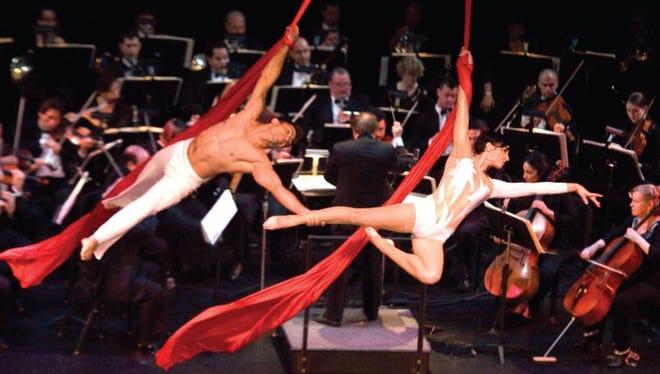 Cirque de la Symphonie was a production of the Shreveport Symphony Orchestra with aerial dancers.