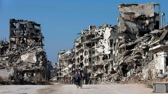 Homs, Syria, in February. The Archdiocese of Newark will begin resettling refugees from Syria and other countries in New Jersey in January.