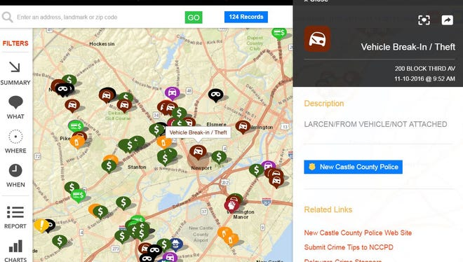 The new technology allows local residents to see where crimes have occurred in their neighborhoods.