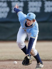 St. Mary Catholic High School's Christian Jack field the ball against Xavier High School during their baseball game Tuesday, March 27, 2018, at St. Mary Catholic High School in Fox Crossing, Wis. Dan Powers/USA TODAY NETWORK-Wisconsin