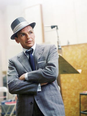 Frank Sinatra at a Capitol Records recording session in Los Angeles.