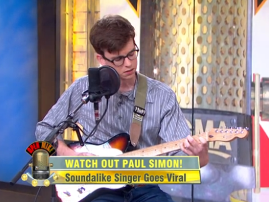 "Butler University senior Josh Turner played his cover of Paul Simon's ""Graceland,"" a viral hit on YouTube, on ABC's ""Good Morning America."""