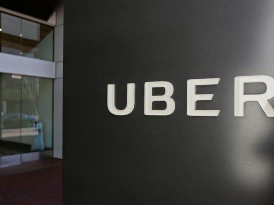 An exterior view of the headquarters of Uber in San