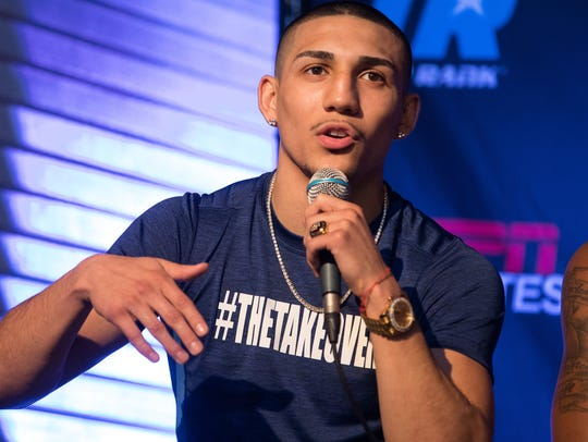 Boxer Teofimo Lopez in the upcoming Top Rank boxing