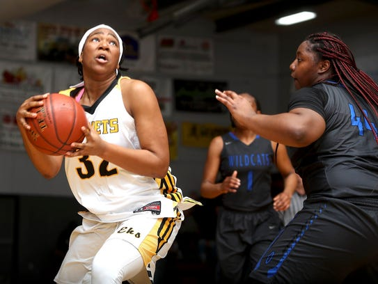 Enterprise's Justyce Cooper goes up with the ball Wednesday