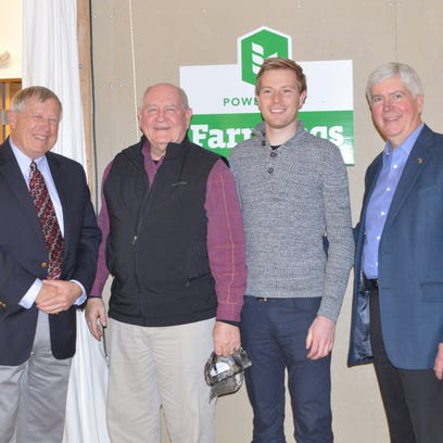 From left: Jim Byrum, President of the Michigan Agri-Business;