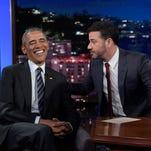 Obama tells Kimmel: 'I'm like the old guy at the bar'