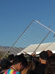 People waiting for tickets at Coachella's local sale