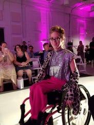 Ashley Bugg, of Ashland City, models a shimmering silver