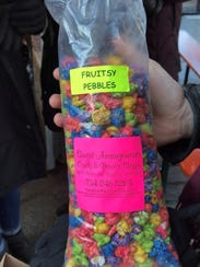 Royrick David, 29, bought bags of fruity pebble-flavored