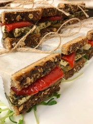 Tofu eggplant sandwiches from The Juice Theory in Long