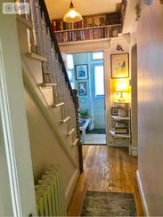 A hallway in the house.