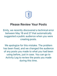 An example of a notification affected users received