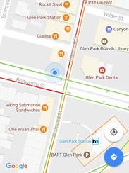 A Google Maps Screen Showing Morning Rush Hour Traffic
