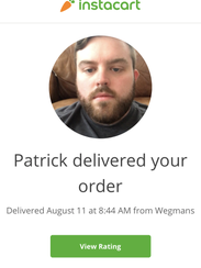 Instacart grocery delivery service allows the customer