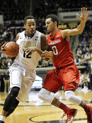 Vince Edwards became the 16th freshman to start a season opener for Purdue and responded with 13 points and eight rebounds.