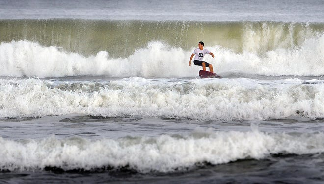 Hurricane Joaquin didn't strike Florida, but it did send some of the strongest, highest surf in recent memory to the state's east coast.