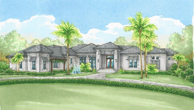 The Southampton model by McGarvey Custom Homes is complete in Quail West.