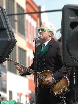 Glen Burtnik of The Weeklings performs at the 2015 Asbury Park St. Patrick's Day Parade