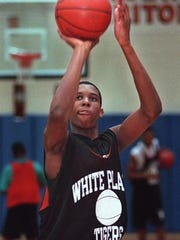 Former White Plains High School varsity basketball player Markus Austin. Austin was killed Sunday during a shooting in Vermont.