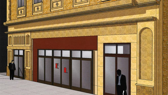Here's a rendering of a downtown strip club that has gained Common Council approval, complete with a couple of shadowy guys.