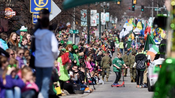 Scenes from the 38th annual St. Patrick's Day Parade
