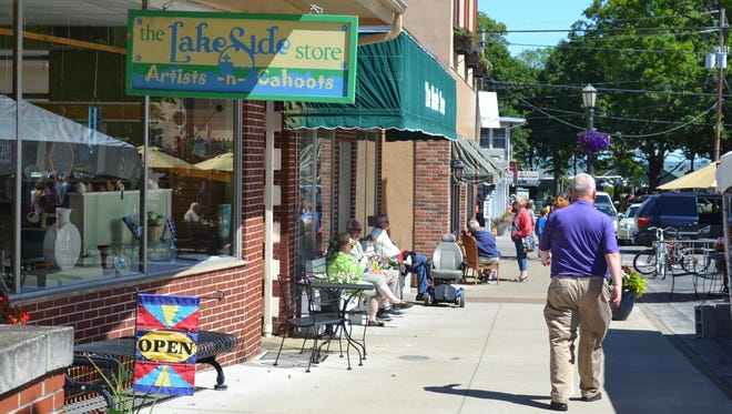 Attendees of the annual United Methodist Church West Ohio Conference enjoy some downtime at the shops at Lakeside Chautauqua.