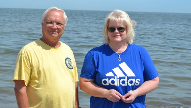 Cindy Millikan said she and her father, Chuck Snider, never paid attention to the beach glass on the Lake Erie shore when she was growing up in Oak Harbor. Now, their eyes are accustomed to spotting it easily when they go hunting for the glass they turn into jewelry.