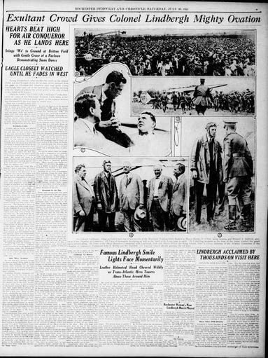The Democrat and Chronicle from July 30, 1927, the