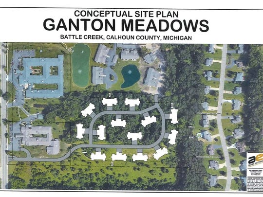 A conceptual site plan of the proposed Ganton Meadows