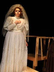"""Rylee Bryan as the Ghost of Christmas Past in Stayton High School's production of """"A Christmas Carol."""""""