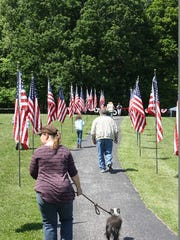 A crowd turned out Sunday for the official opening of the Memorial of Valor at Hayswood Nature Reserve in Corydon.  It remains open through May 30.