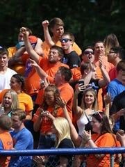 Keansburg fans celebrate a touchdown. More than 3,000