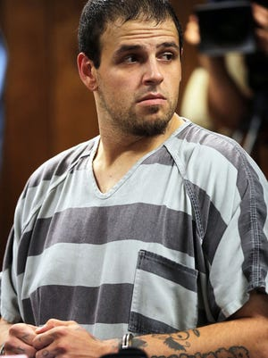 Daniel Clay, a 27-year-old man arrested Friday in the 2014 disappearance and slaying of 22-year-old  Chelsea Bruck is arraigned Monday, July 25, 2016 at the 1st District Court in Monroe. He asks for no bond to be set.