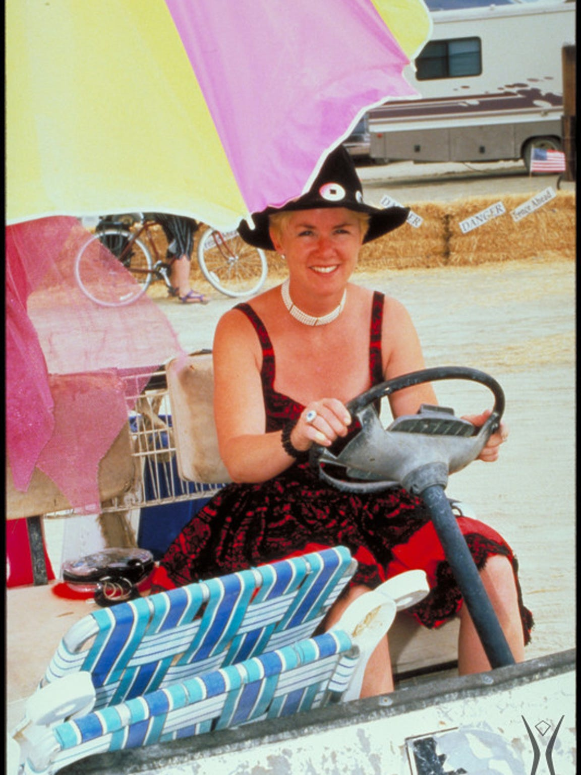 Burning Man founder Marian Goodell is pictured at Burning