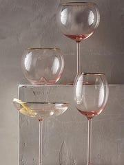 2. Gilded Rose Glassware from Anthropologie