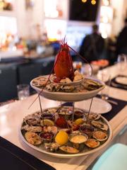Seafood display at Elia.