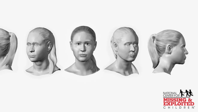 """The body of a young female  found in the 70s in Pennsylvania might be from this area. She was Caucasian, possibly with Southeast European descent, about 16-19 years old and stood 5'5""""-5'8"""" tall. The images are facial reconstruction completed by a forensic artist and depicts what the female may have looked like in life."""