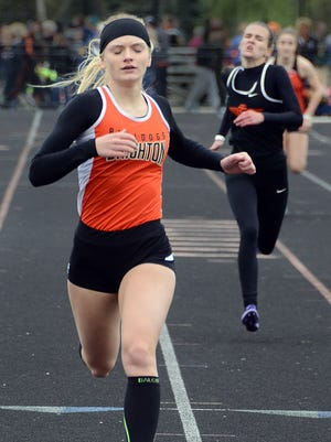 Brighton's Shannon McGrath had Livingston County's best performances in the 100, 200 and long jump in 2017.