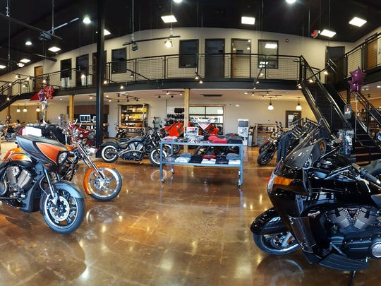 The expanded showroom on Route 22 of Rollin' Fast Indian Motorcycles of Lebanon was two years in the making.