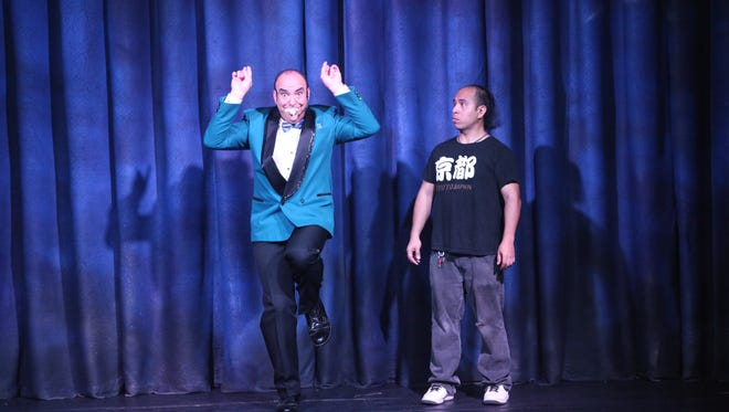 Hank Rice performs his comedy magic show at the Guam Reef & Olive Spa Resort.