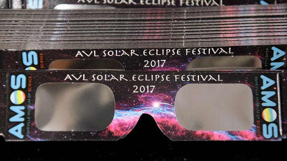 To safely view the eclipse you will need to wear special glasses that block out all light but the bright sun.