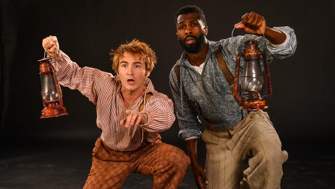 """The Cedar City Council approved more than $500,000 in funding for arts, recreation and parks projects as part of the annual distribution of RAP tax funds. Rob Riordan (left) as Huckleberry Finn and Ezekiel Andrew as Jim in the Utah Shakespeare Festival's 2018 production of """"Big River."""""""