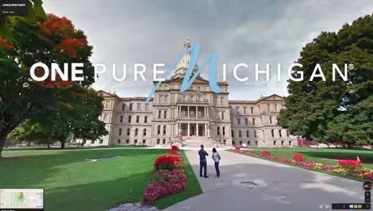Frame grab from latest Pure Michigan campaign video  March 2015.