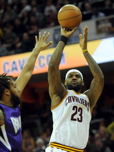 LeBron James scored 19 points after missing the previous
