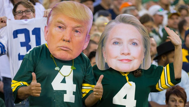The Nov. 8 presidential election is on the minds of NFL players and on the heads of NFL fans.