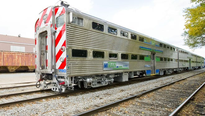 Cars that were retired from Chicago's Metra system are intended for a proposed commuter rail service between Ann Arbor and Detroit.